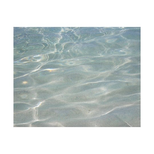 Caribbean Water Abstract Blue Nature Canvas Print