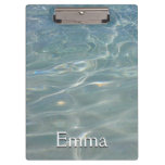 Caribbean Water Abstract Blue Nature Clipboard
