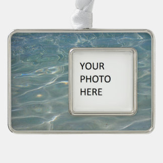 Caribbean Water Abstract Blue Nature Ornament