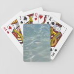 Caribbean Water Abstract Blue Nature Playing Cards