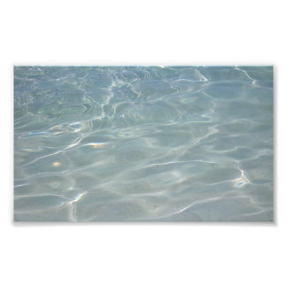 Caribbean Water I Abstract Blue Nature Design Photo Print