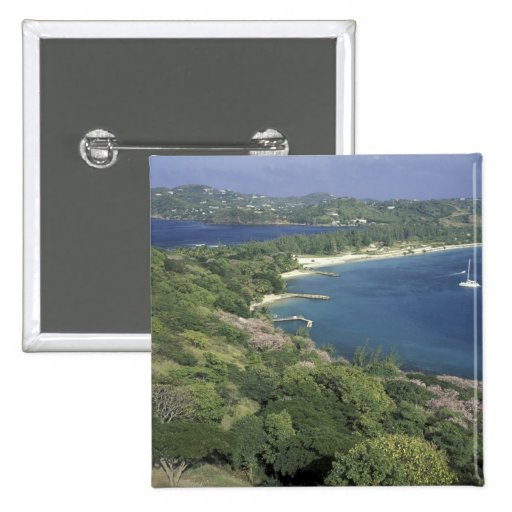 Caribbean, West Indies, St. Lucia. View of Button