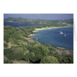 Caribbean, West Indies, St. Lucia. View of Card