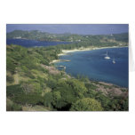 Caribbean, West Indies, St. Lucia. View of Cards