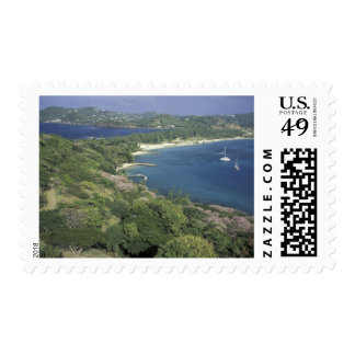 Caribbean, West Indies, St. Lucia. View of Postage