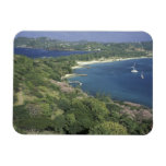 Caribbean, West Indies, St. Lucia. View of Flexible Magnets