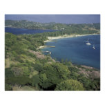 Caribbean, West Indies, St. Lucia. View of Print