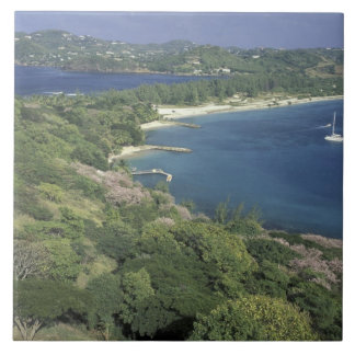 Caribbean, West Indies, St. Lucia. View of Tile