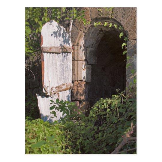 Caribbean Window Plantation Ruins, Nevis,W.I. Postcard