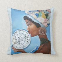 Caribbean Woman Throw Pillow