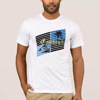 Caribea Gold and Blue Slants T-Shirt