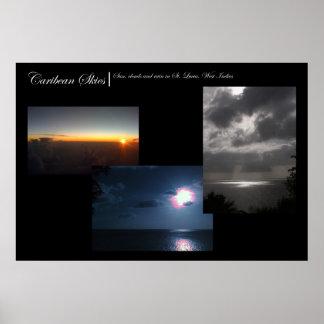 Caribean Skies Posters