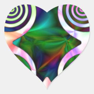 Caribean Swirl Heart Sticker