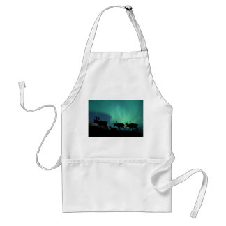Caribou and Northern Lights Adult Apron