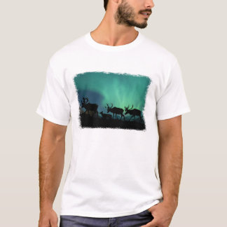 Caribou and Northern Lights T-Shirt