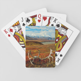 Caribou Antlers On The Alaskan Tundra Playing Cards