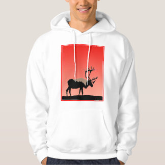Caribou at Sunset Hoodie