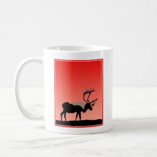 Caribou at Sunset  - Original Wildlife Art Coffee Mug