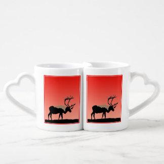 Caribou at Sunset  - Original Wildlife Art Coffee Mug Set