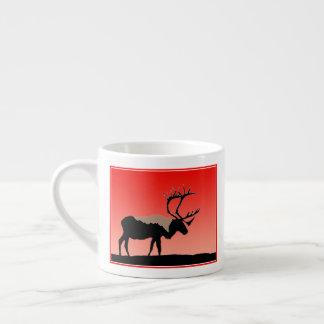 Caribou at Sunset  - Original Wildlife Art Espresso Cup