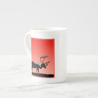 Caribou at Sunset  - Original Wildlife Art Tea Cup