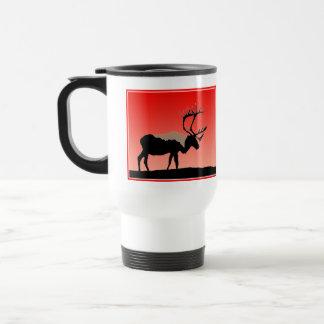 Caribou at Sunset  - Original Wildlife Art Travel Mug