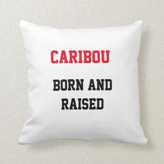 Caribou Born and Raised Throw Pillow