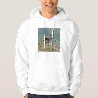 Caribou deer running on a hill in alaska hoodie