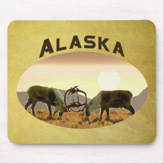 Caribou Duel - Alaska Mouse Pad