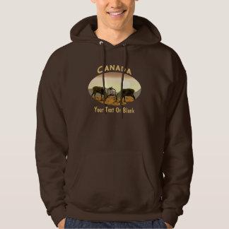 Caribou Duel - Canada Hoodie