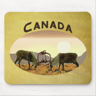 Caribou Duel - Canada Mouse Pad