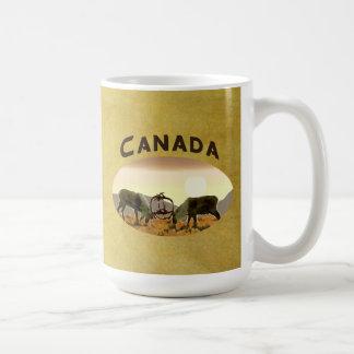 Caribou Duel - Canada Coffee Mugs