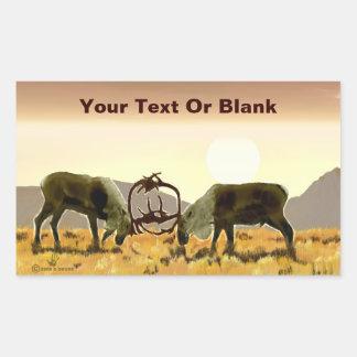 Caribou Duel Rectangular Sticker
