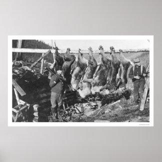 Caribou Hunters Alaska 1928 Poster