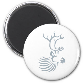 Caribou in Swish Drawing Style Magnet