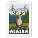 Caribou in the Wild - Dawson, Alaska Card