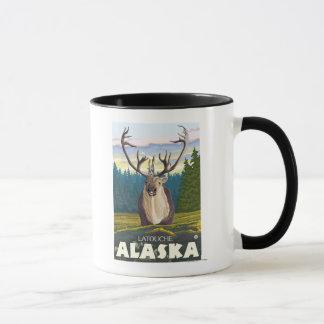 Caribou in the Wild - Latouche, Alaska Mug