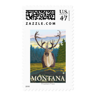 Caribou in the Wild - Montana Postage