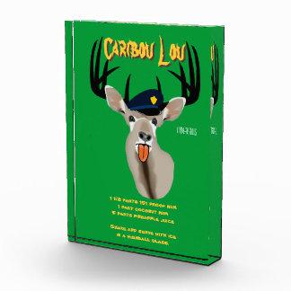 Caribou Lou Drink Recipe Acrylic Award