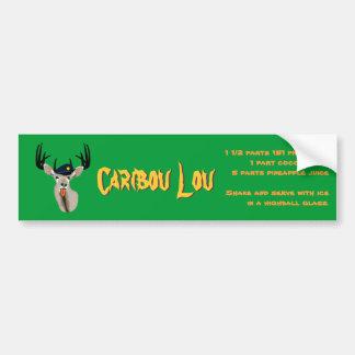 Caribou Lou Drink Recipe Car Bumper Sticker