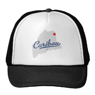 Caribou Maine ME Shirt Trucker Hat