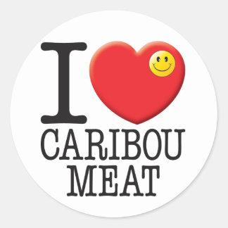 Caribou Meat Classic Round Sticker