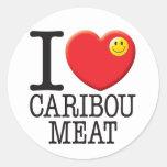Caribou Meat Round Sticker