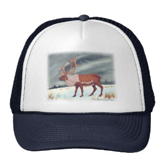 Caribou Reindeer Painting Trucker Hat