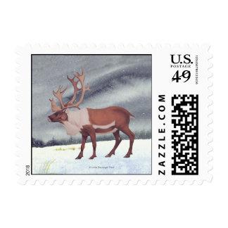 Caribou Reindeer Snow Postage