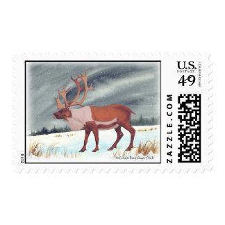 Caribou Reindeer Winter Snow Postage
