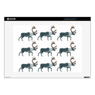 Caribou rows decal for laptop