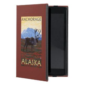 Caribou Scene - Anchorage, Alaska Covers For iPad Mini