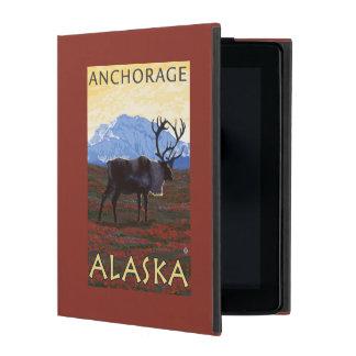 Caribou Scene - Anchorage, Alaska iPad Cases