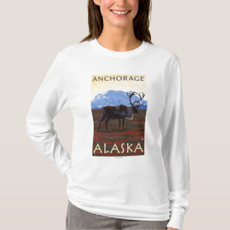 Caribou Scene - Anchorage, Alaska T-Shirt